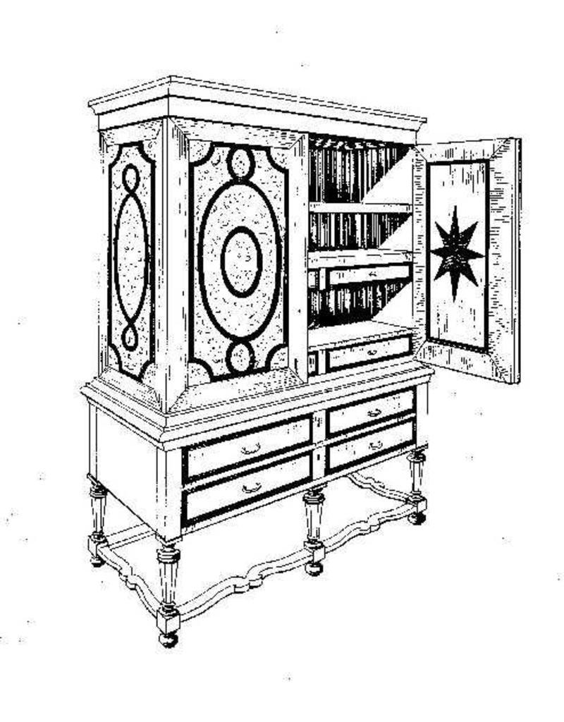 NVM 45.16.014 Queen Anne tafelkabinet