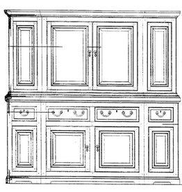 NVM 45.16.017 Chippendale kabinet