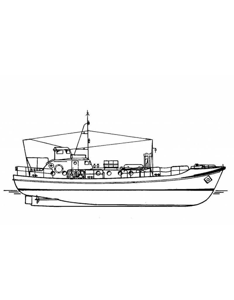 NVM 16.17.002 motorreddingboot Stoltera (1953) - Seenotrettungsdienst der DDR