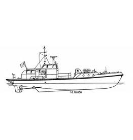 NVM 16.18.036 loodstender ms Walvis (1963) - Loodswezen Nederland