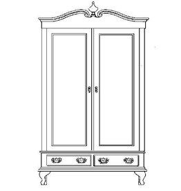 NVM 45.17.017 Linnenkast in colonial stijl
