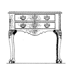 NVM 45.18.006 Chippendale commode