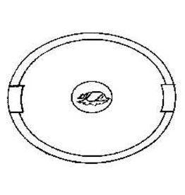 NVM 45.26.001 ellipsvormig dienblaadje