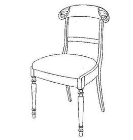 NVM 45.35.013 laat-biedermeier stoel