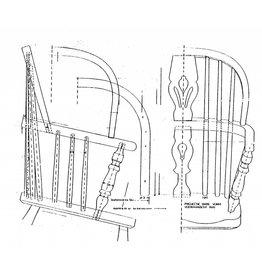 "NVM 45.36.007 Windsorstoel, ""double-bow-back"""