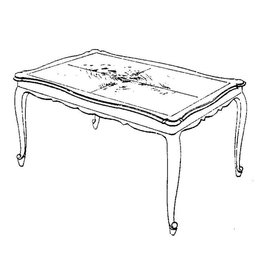 NVM 45.40.007 Chippendale salontafel