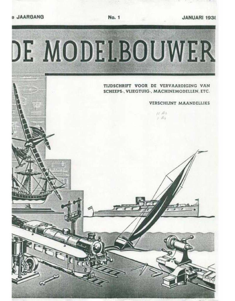 """NVM 95.38.001 Jaargang """"De Modelbouwer"""" Editie : 38.001 (PDF)"""