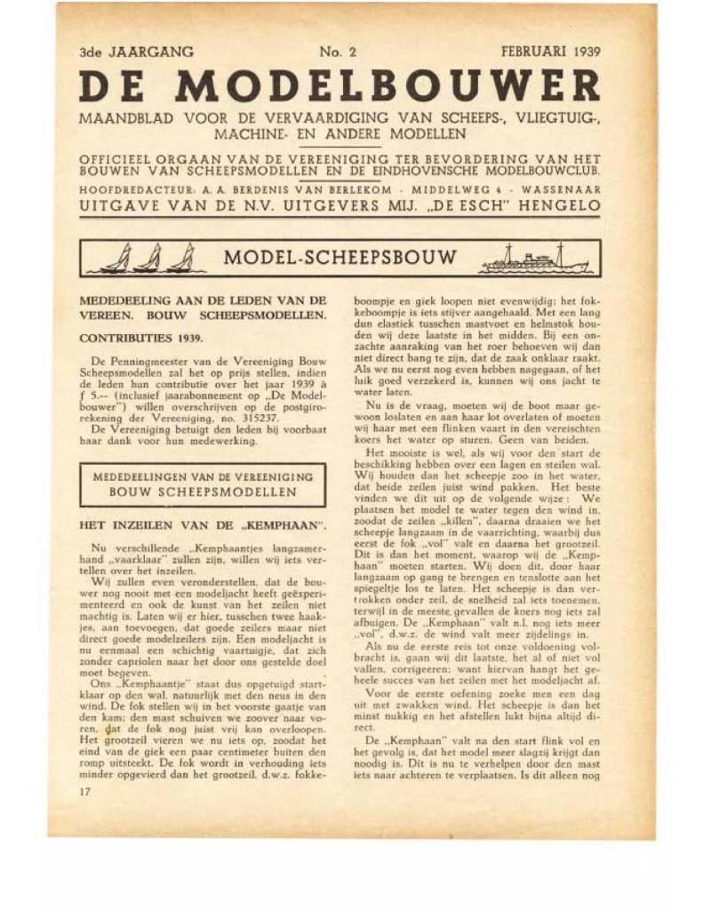 """NVM 95.39.002 Jaargang """"De Modelbouwer"""" Editie : 39.002 (PDF)"""