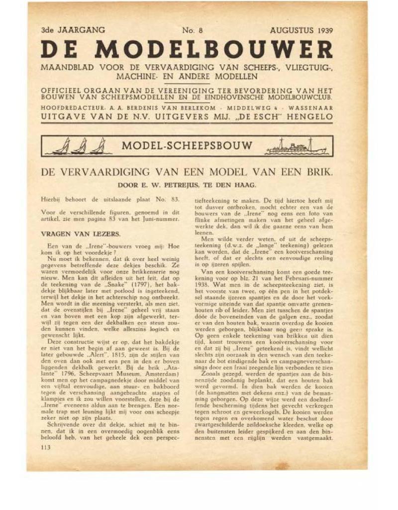 """NVM 95.39.008 Jaargang """"De Modelbouwer"""" Editie : 39.008 (PDF)"""