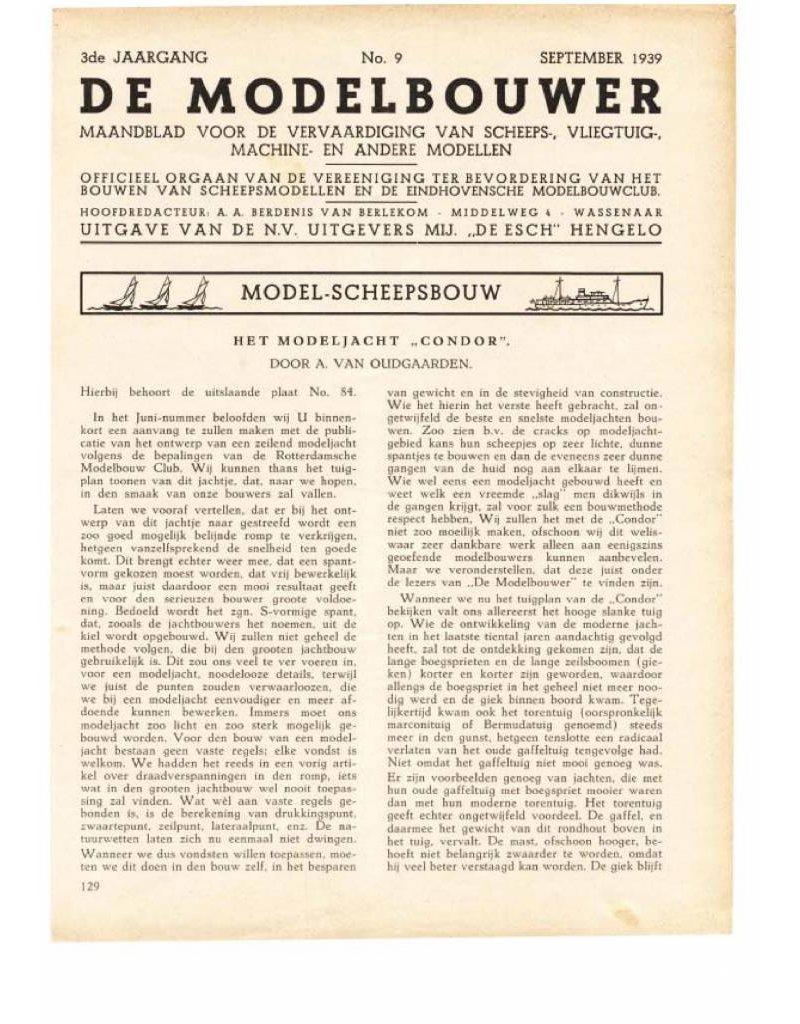 """NVM 95.39.009 Jaargang """"De Modelbouwer"""" Editie : 39.009 (PDF)"""
