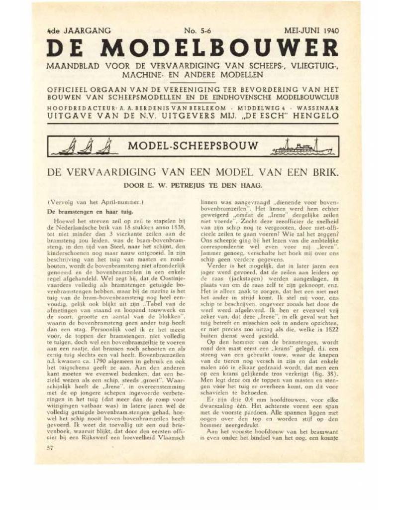 """NVM 95.40.005 Jaargang """"De Modelbouwer"""" Editie : 40.005 (PDF)"""