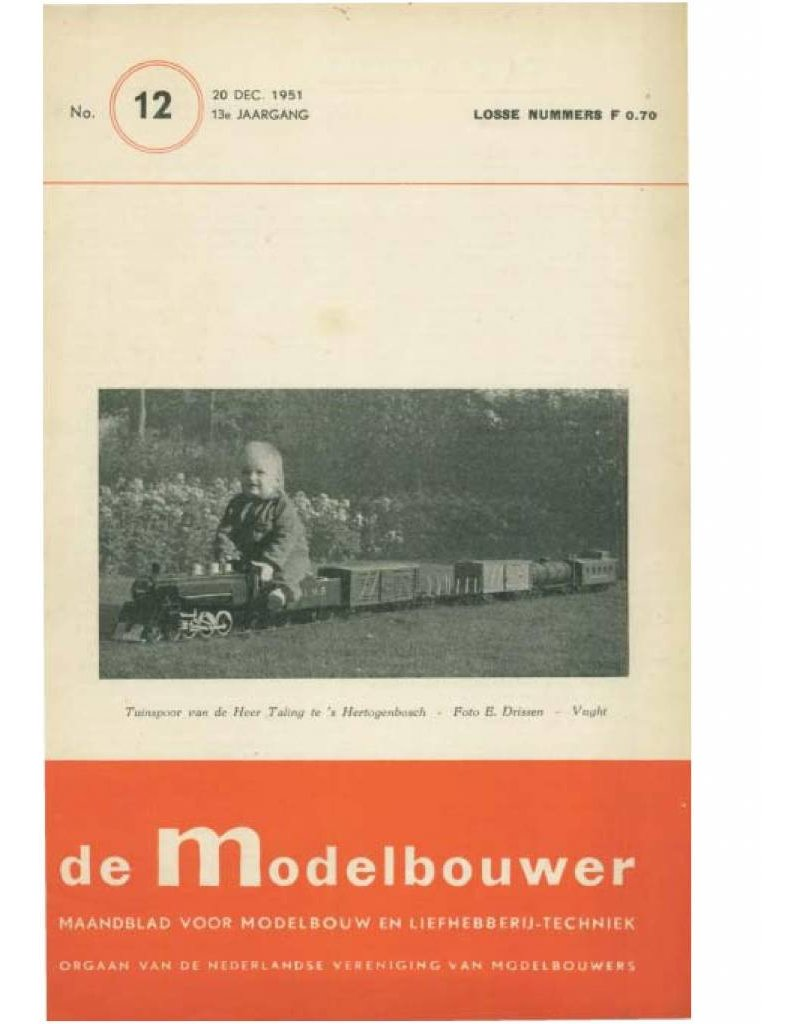 """NVM 95.51.012 Jaargang """"De Modelbouwer"""" Editie : 51.012 (PDF)"""