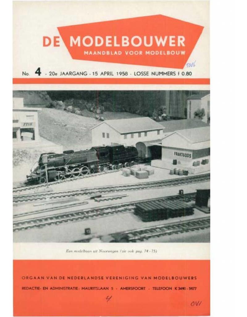 """NVM 95.58.004 Jaargang """"De Modelbouwer"""" Editie : 58.004 (PDF)"""