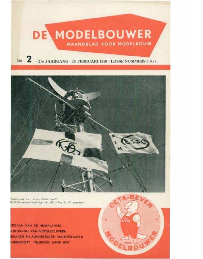"""NVM 95.59.002 Jaargang """"De Modelbouwer"""" Editie : 59.002 (PDF)"""