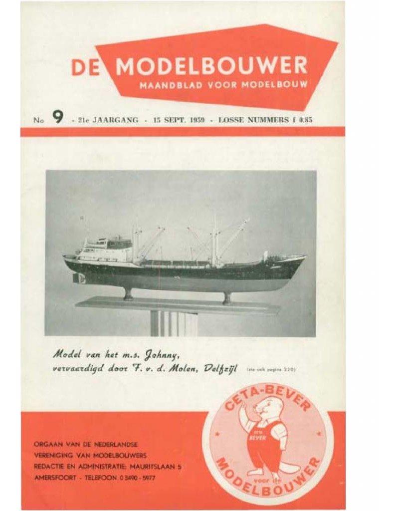 """NVM 95.59.009 Jaargang """"De Modelbouwer"""" Editie : 59.009 (PDF)"""