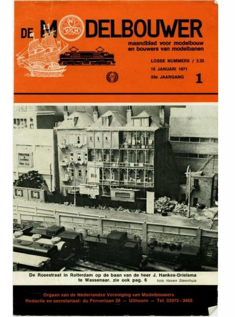 """NVM 95.71.001 Jaargang """"De Modelbouwer"""" Editie : 71.001 (PDF)"""