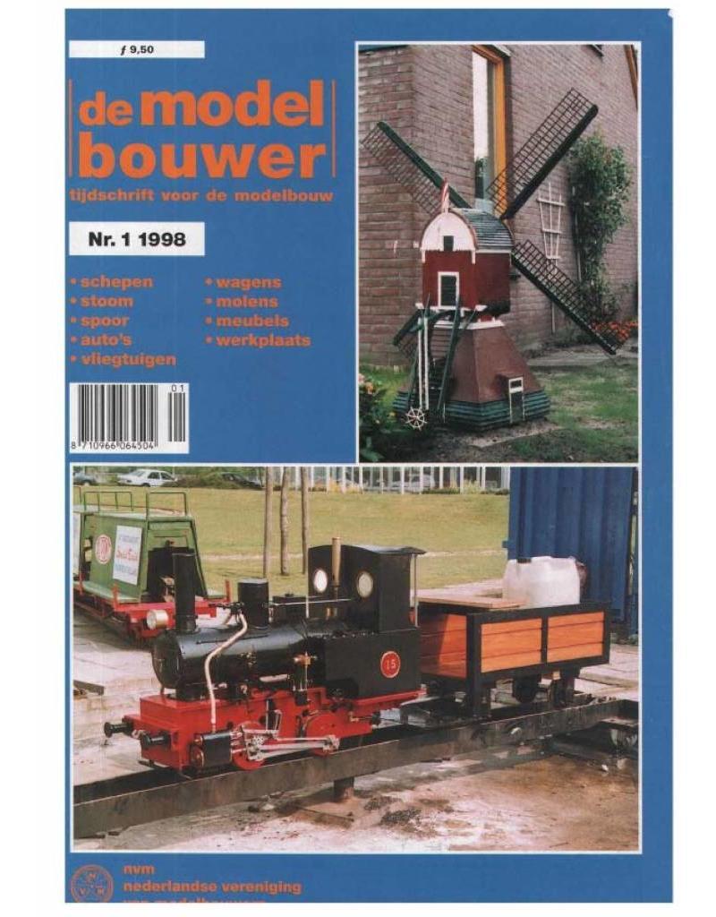 """NVM 95.98.001 Jaargang """"De Modelbouwer"""" Editie : 98.001 (PDF)"""