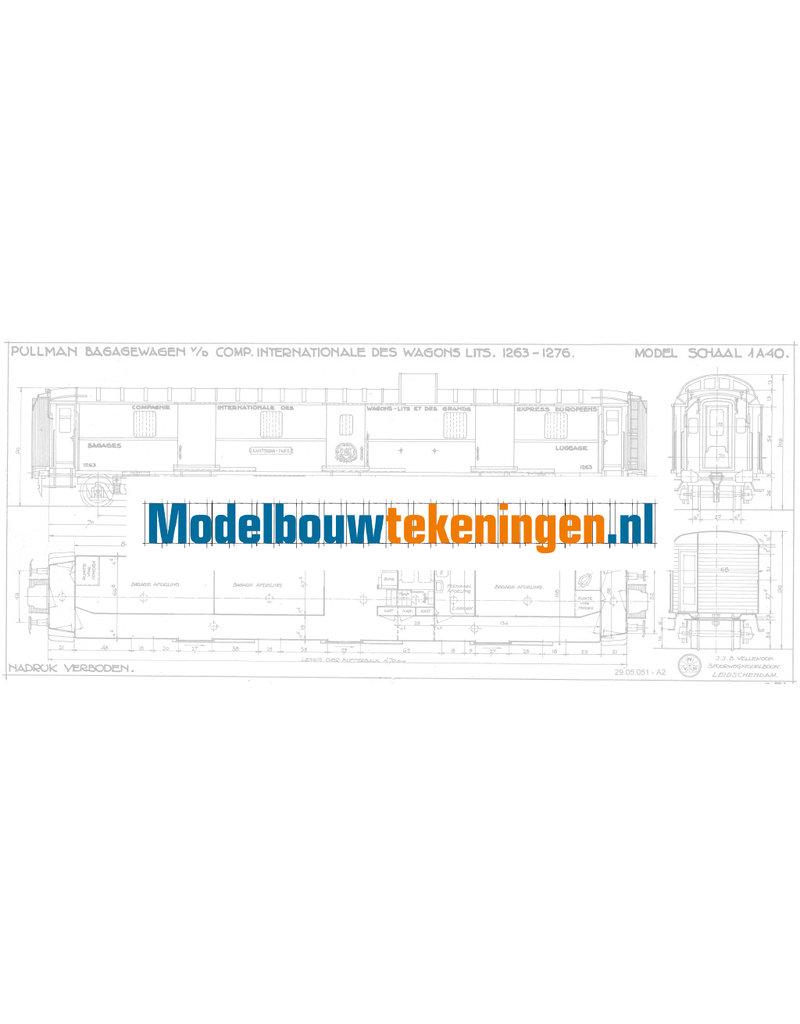 NVM 29.05.051 Pullman bagagewageon Cie Inern des Wagon Lits 1263 - 1276