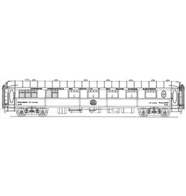 NVM 29.05.052 Pullanrijtuig 1e kl Cie Int des Wagon Lits VP4058 - 4061, 4063 en 4064