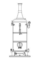 NVM 60.00.006 vertikale stoomketel 6 bar Vulcanus