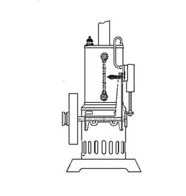 NVM 60.01.002 staande oscillerende stoommachine incl verticale ketel