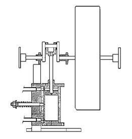 NVM 60.01.009 dubbelwerkende oscillerende stoommachine voor raderboot