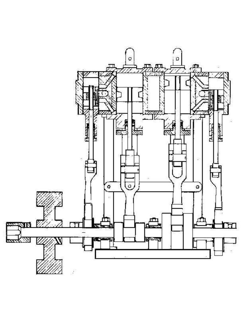 NVM 60.01.027 2 cyl. stoommachine met ketel voor sloep