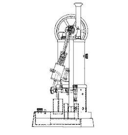 """NVM 60.01.037 verticale stoommachine """"Lennart"""" met ketel"""