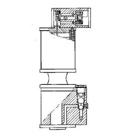 """NVM 60.04.008 stoomvoedingpomp voor 5"""" en 7,5"""" locomotieven"""