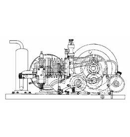 """NVM 60.10.004 4-tact gasmotor """"Johanna"""" 14 cc"""