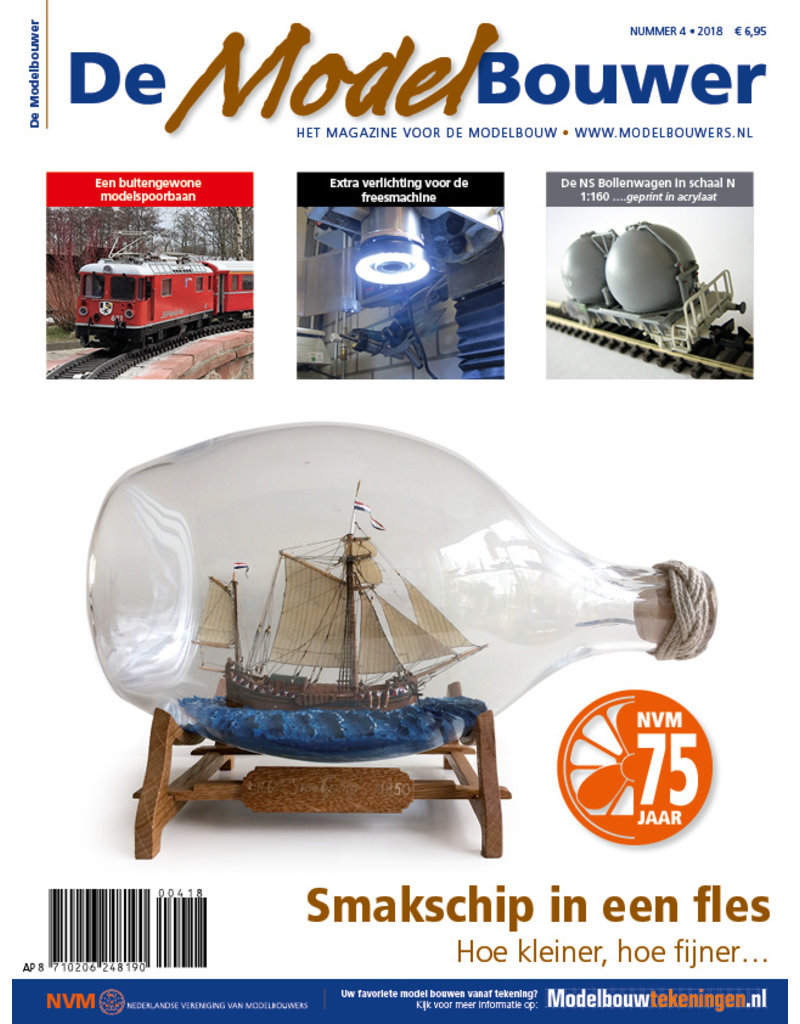 """NVM 95.18.004 Jaargang """"De Modelbouwer"""" Editie : 18.004"""