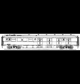 NVM 29.05.039 NS doorgangsrijtuig 2e klasse B4101 - 4124 (Plan W) voor spoor 0