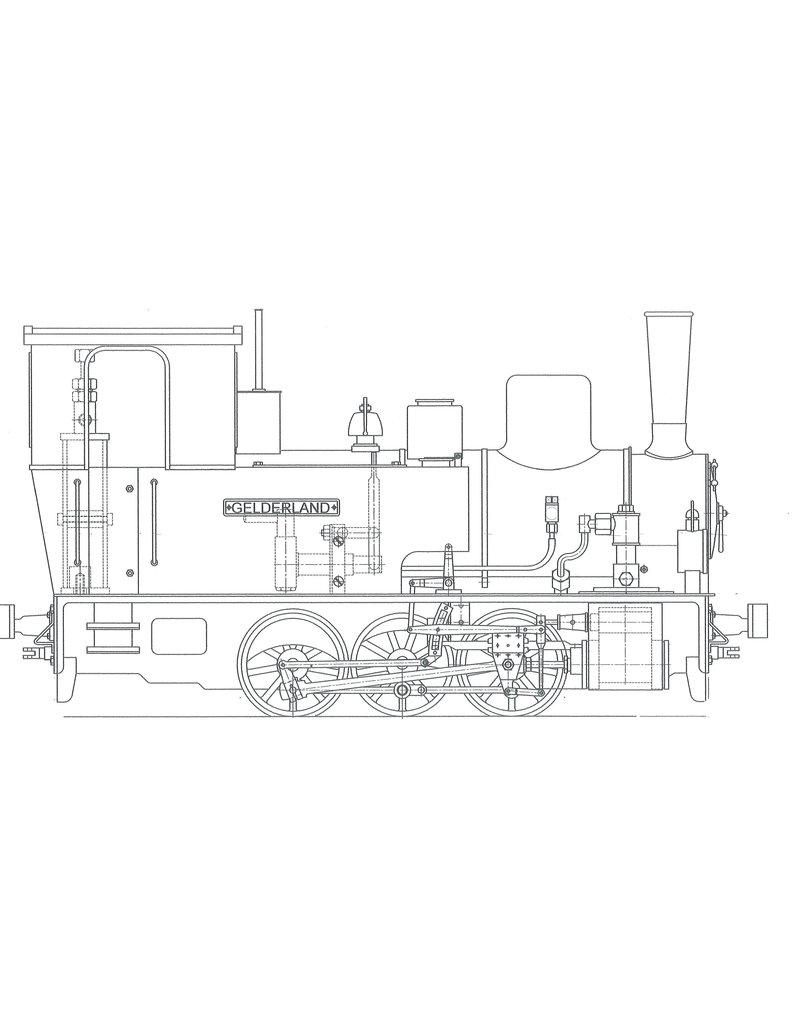 """NVM 20.20.017 GWSM Stoomtramlocomotief nr 6 """"Gelderland"""" voor spoor 1"""