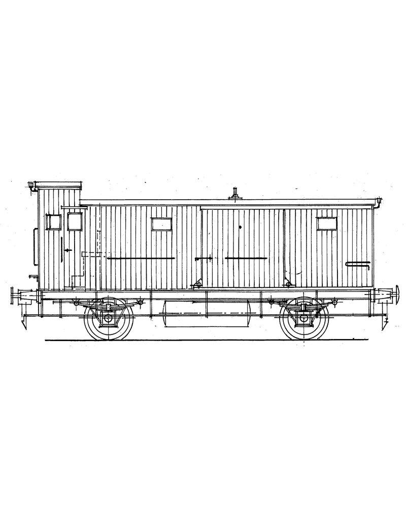 NVM 29.05.131 HSM Bagagewagen serie 1451-1487 (NS serie 2533-2556) voor spoor 0