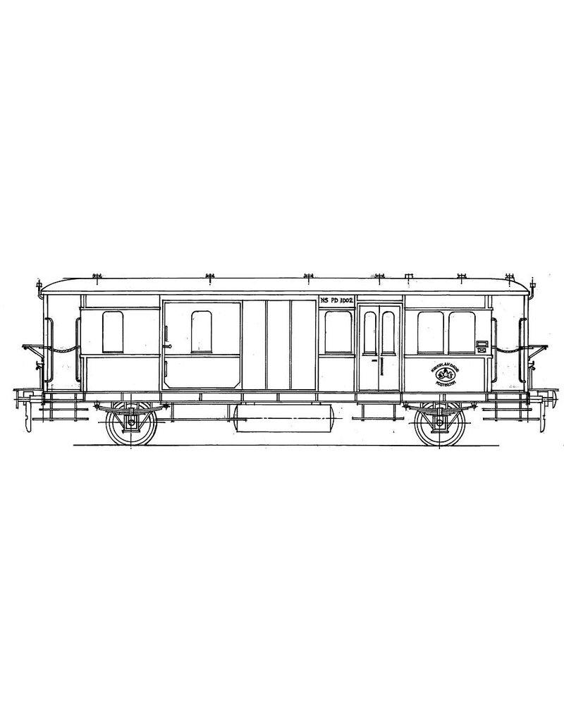 NVM 29.05.141 NS Post-bagagerijtuig PD 1001 - 1033 (voorheen HSM 3011 - 3033) voor spoor 0