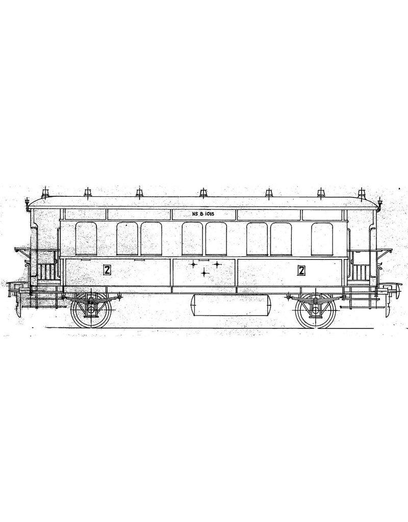 NVM 29.05.142 NS lokaalrijtuig 2e klasse B 1001 - 1017 (voorheen HSM B 1201-1217) voor spoor 0
