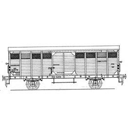 NVM 29.06.082 NS 17,5 tons gesloten goederenwagen 24576-24875 voor groetevervoer voor spoor 1