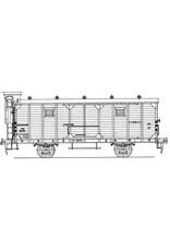 NVM 29.06.083 NS 15 tons gesloten goederenwage 28211-28400 voor fruitvervoer, voor spoor 0