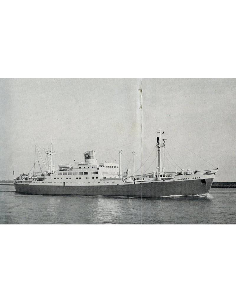 """NVM 10.20.017 vracht-passagiersschip ms """"Prinses Irene"""" (1958)- Oranjelijn"""