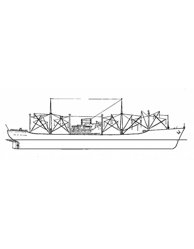 "NVM 16.10.016 vrachtschip ms ""Nijkerk"" (1958) - VNS - Nedlloyd"