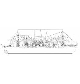 """NVM 16.10.048 vrachtschip ms """"Straat Banka"""" (1951) - KJCPL - 1971 """"Mercury Lake"""", 1978 sloop"""