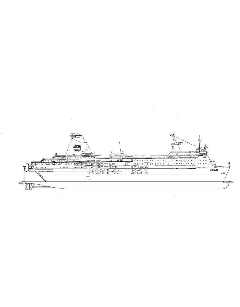 "NVM 16.10.051 pass.ferry ms ""Norsun"" (1986) - North Sea Ferries/P&O-NSF"