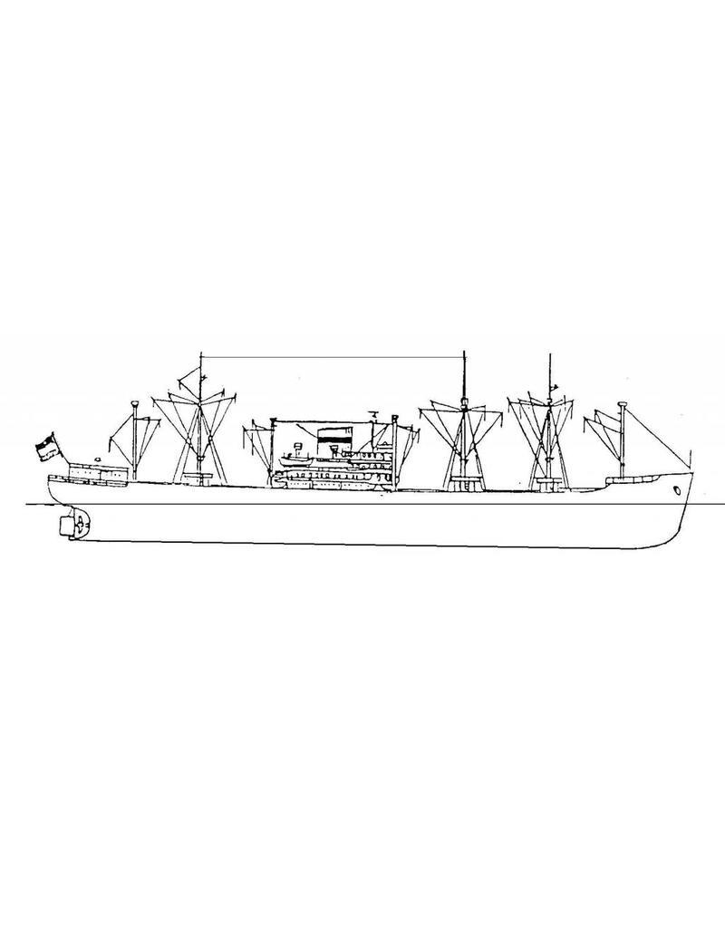 """NVM 16.10.060 vrachtschip ms """"Montferland"""" (1956), """"Zaanland"""","""" Waterland"""" (1957) - KHL"""