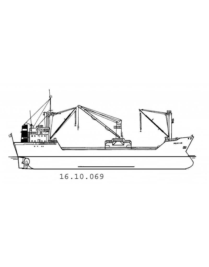 "NVM 16.10.069 vrachtschip ms ""Nestor"", ""Mentor"" (1979) - KNSM"