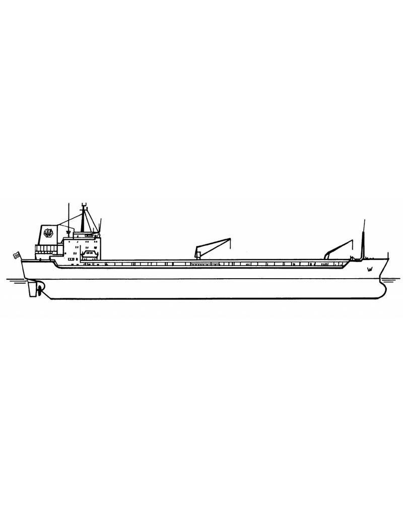 """NVM 16.10.082 tanker ms """"Caurica""""(1982), """"Cardissa"""" (1983) - Shell"""