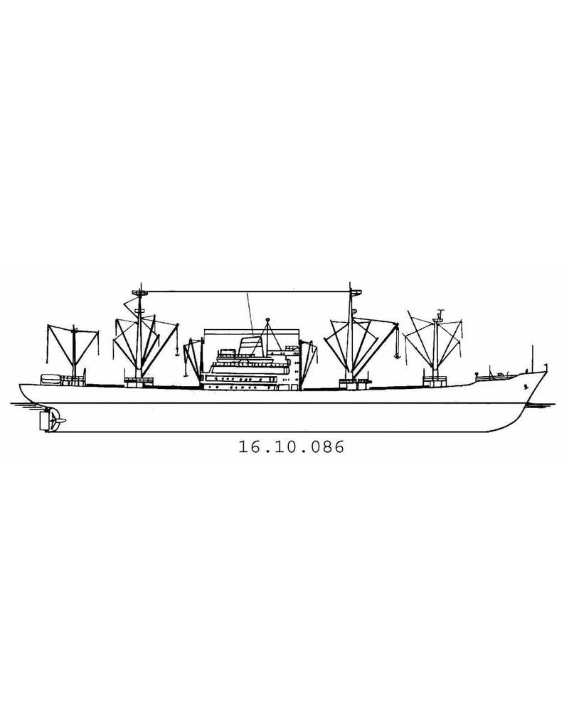 """NVM 16.10.086 vrachtschip ms """"Streefkerk"""" en zustersch. (1961) - VNS / Nedlloyd"""