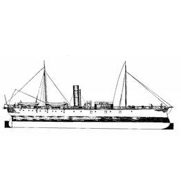 """NVM 16.11.004 ZrMs ramtorenschip """"Buffel"""" (1868)"""