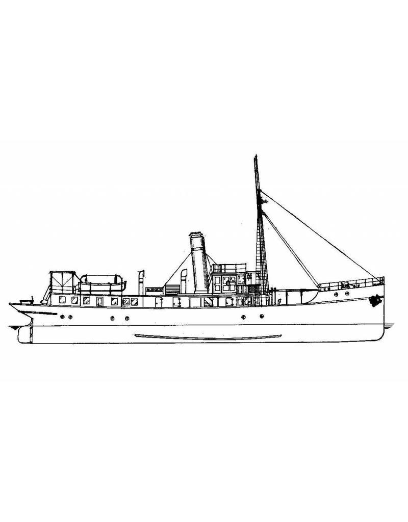 """NVM 16.11.010 HrMs opnemingsvaartuig """"Hydrograaf"""" A901 (1910)"""