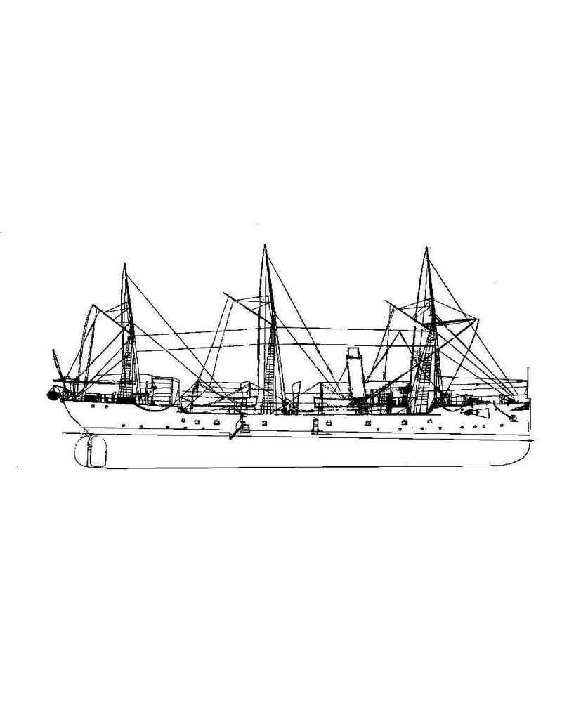 "NVM 16.11.012 HrMs kanonneerboot ""Borneo"" (1893) (schroefstoomschip der 4e klasse)"