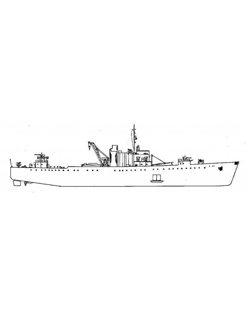 """NVM 16.11.022 Voorraadschip HrMs """"Pelikaan"""" (1948) - ex HMS """"Thruster"""" (1943)"""